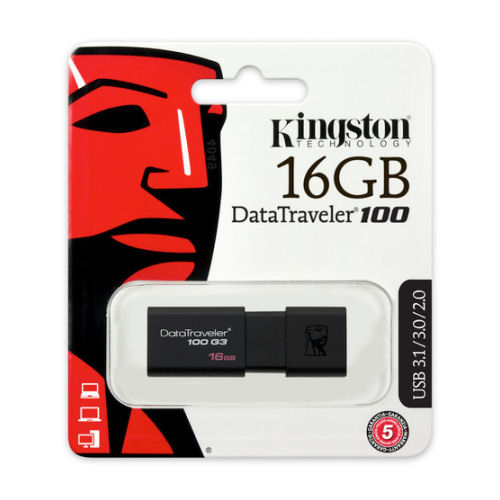 KINGSTON 16GB DATATRAVELER 100G3 FLASH DRIVE