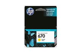 HP 670 YELLOW CZ113AL CARTRIDGE