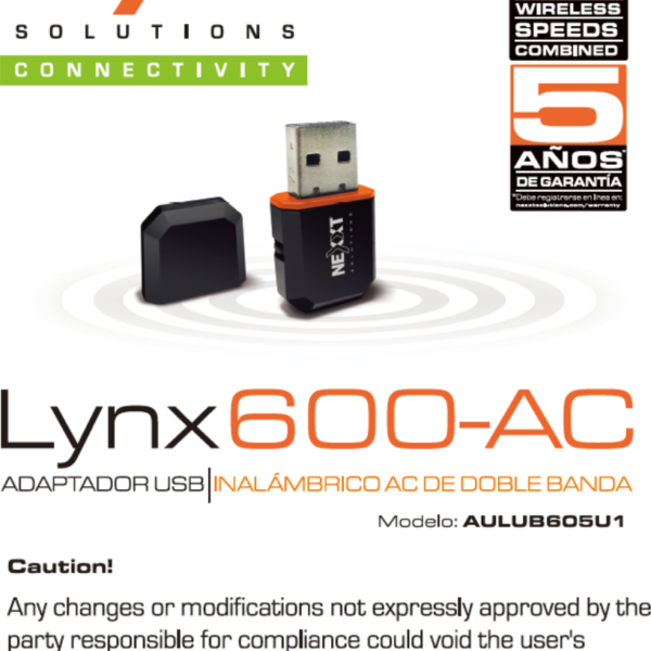 NEXXT LYNX 600 WIRELESS ADAPTER