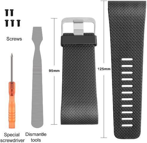 CREATEGREAT COMPATIBLE FITBIT SURGE REPLACEMENT BAND STRAP