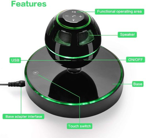 UPPEL LEVITATING BLUETOOTH SPEAKER BLACK (UP-SCS26B)