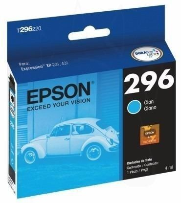EPSON 296 CYAN INK CARTRIDGE