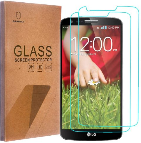 MR SHIELD FOR LG G2 TEMPERED GLASS 2PK