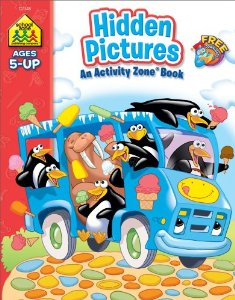 ACTIVITY BOOK - HIDDEN PICTURES : AGES 5 AND UP