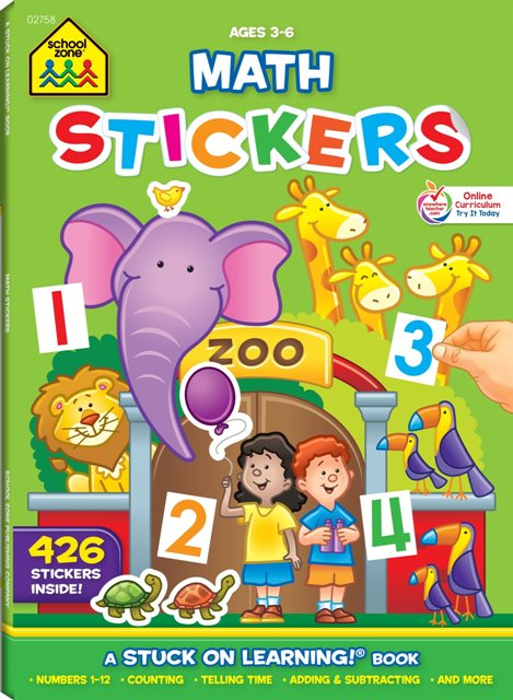 NUMBERS STICKERS 16 PAGE WORKBOOK