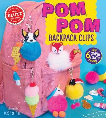 KLUTZ POM-POM BACKPACK CLIPS