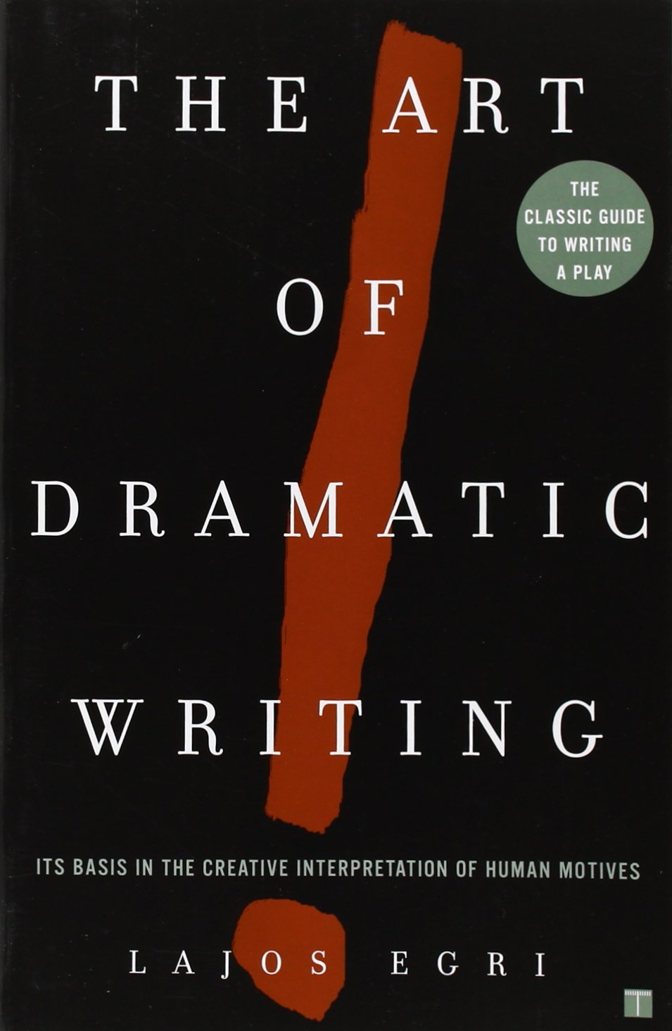 THE ART OF DRAMATIC WRITING: IT'S BASIS IN THE CREATIVE