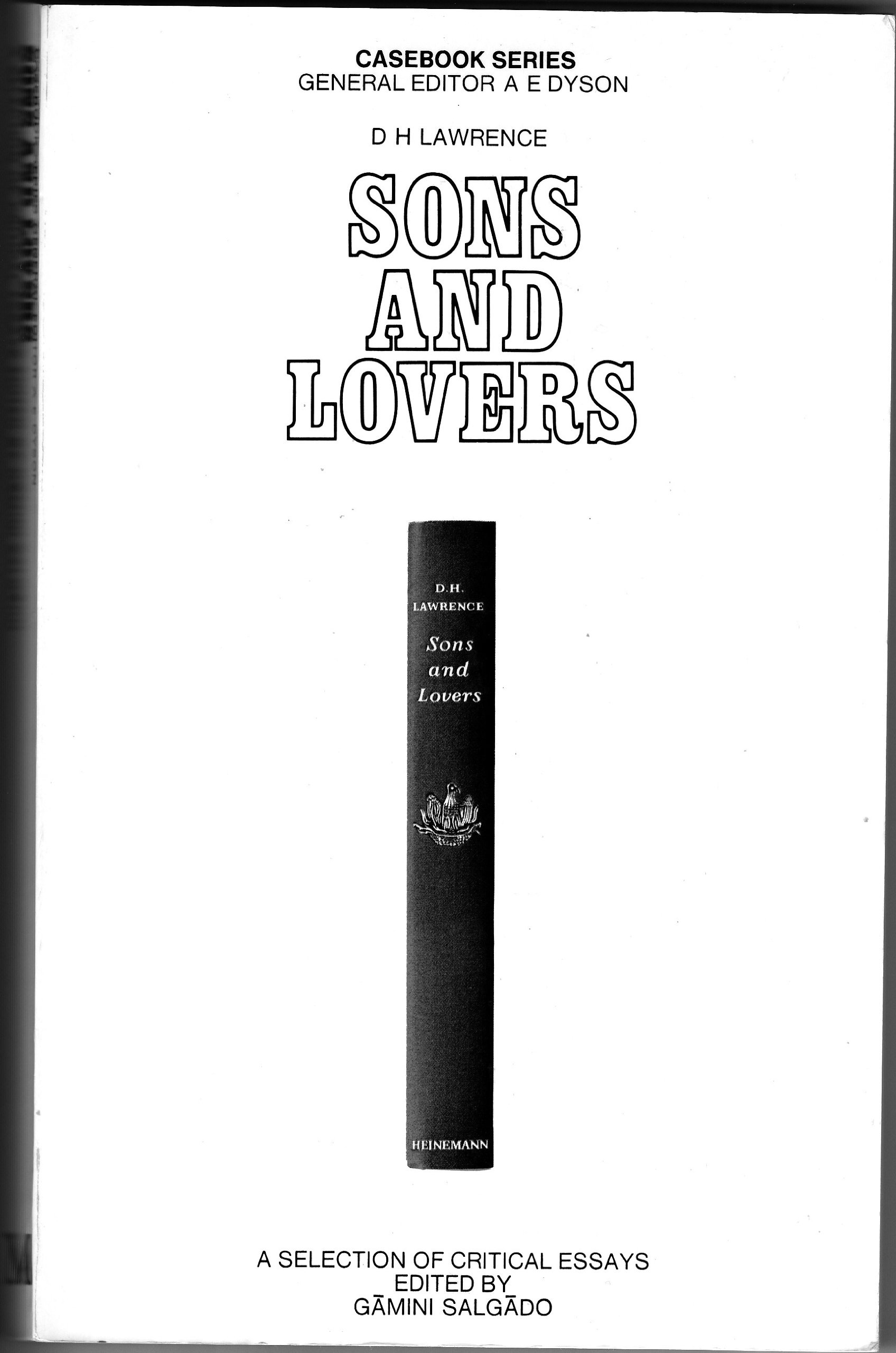 D.H. LAWRENCE, SONS AND LOVERS: A CASEBOOK