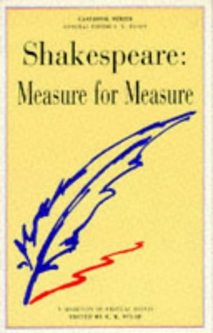 "SHAKESPEARE'S ""MEASURE FOR MEASURE"": A CASEBOOK"