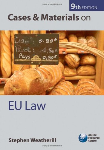CASES AND MATERIALS IN EU LAW