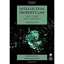 INTELLECTUAL PROPERTY LAW: TEXT, CASES AND MATERIALS