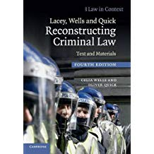 RECONSTRUCTING CRIMINAL LAW: TEXT & MATERIALS