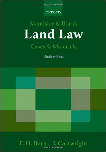 MAUDSLEY & BURN'S LAND LAW CASES & MATERIALS