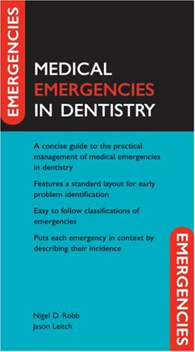 OXFORD HANDBOOK OF EMERGENCIES IN DENTISTRY