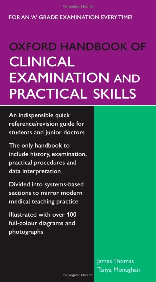 OXFORD HANDBOOK FOR CLINICAL EXAMINATION & PRACTICAL SKILLS