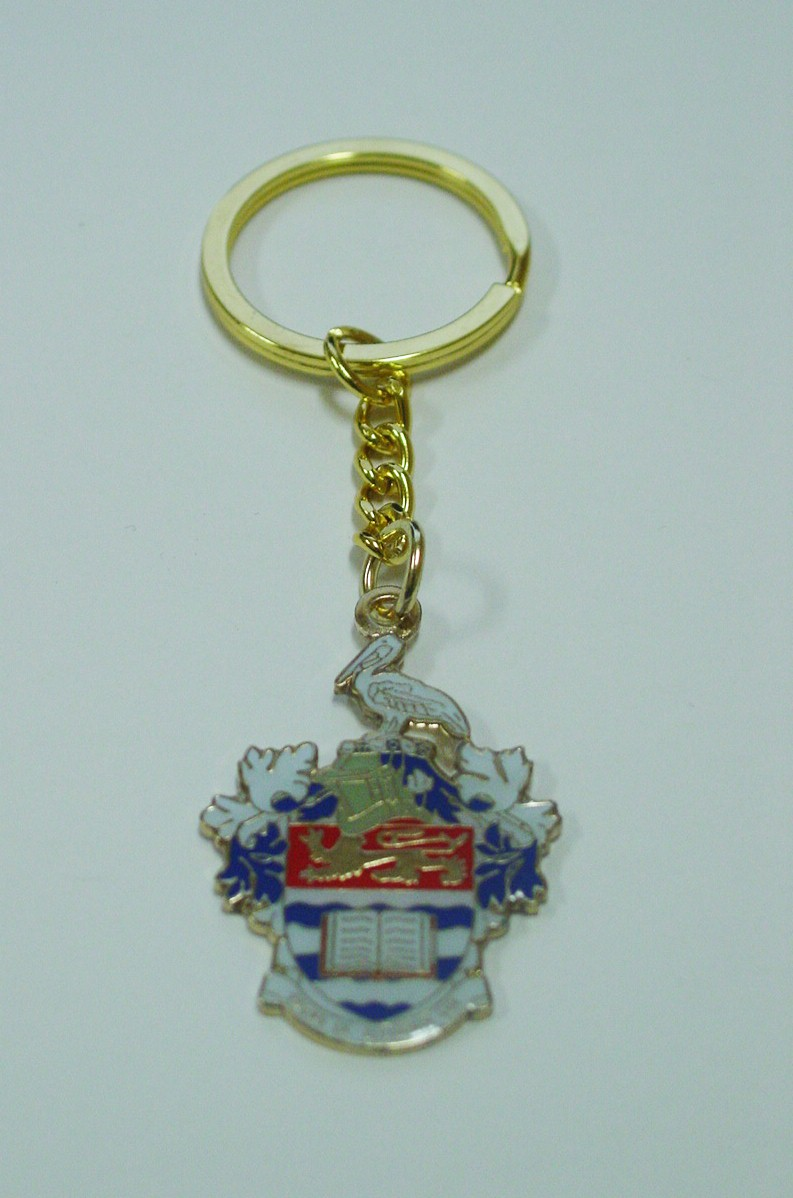 UWI LOGO METAL KEY RINGS