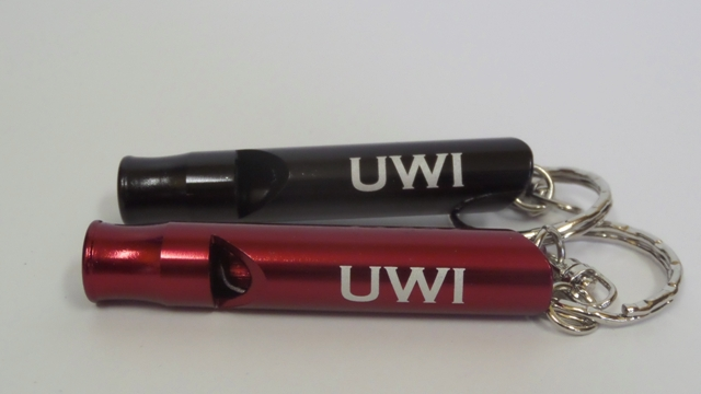 UWI METAL WHISTLE KEYRING ( KEYCHAIN )