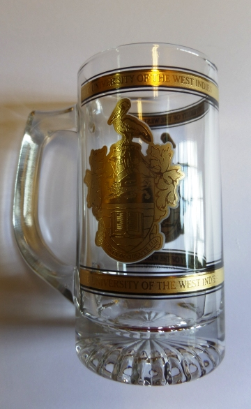 UWI 22.5 OZ FROSTED GLASS TANKARD ( MUG )