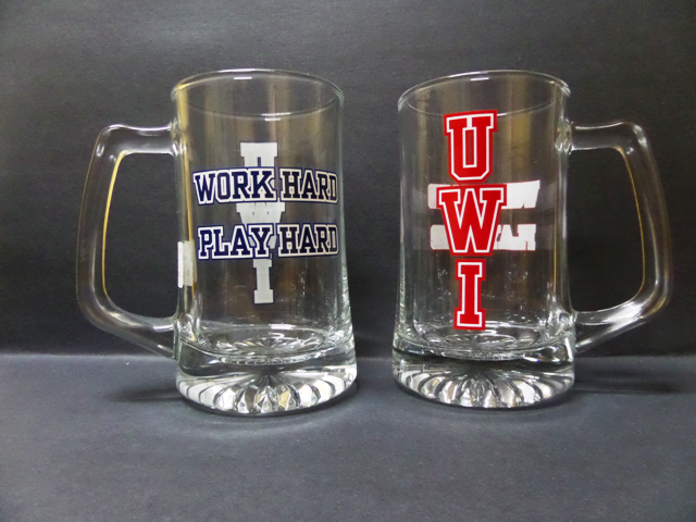 UWI GLASS TANKARD ( BEER MUG )