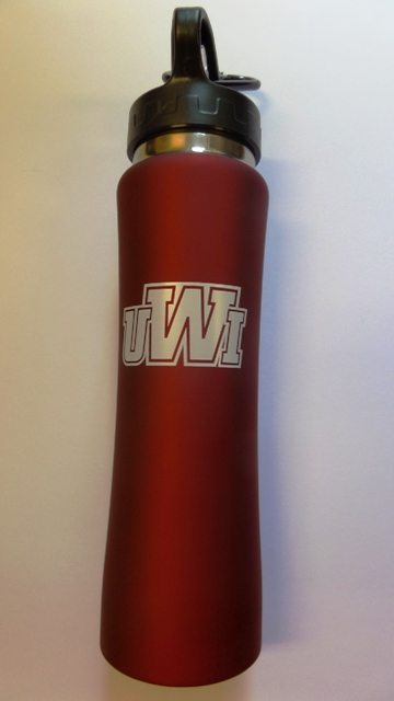 UWI 26OZ MATTED STAINLESS STEEL WATER BOTTLE