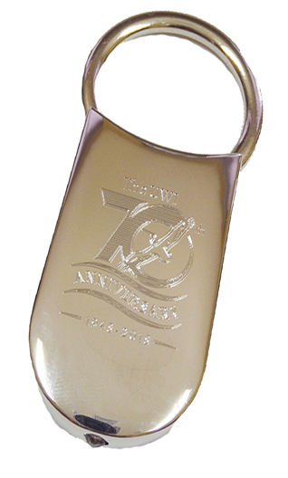 UWI 70TH ANNIVERSARY KEYCHAIN WITH LED LIGHT