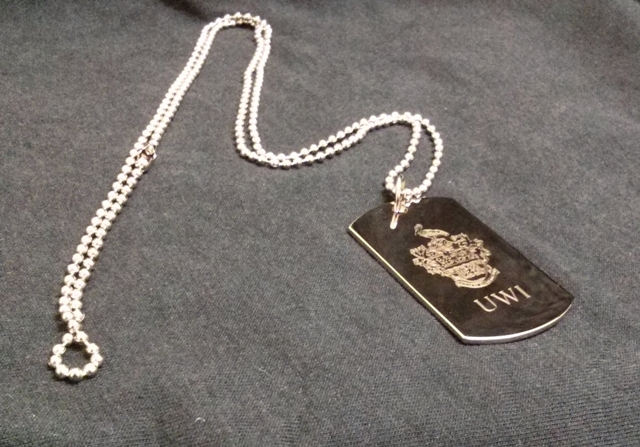UWI DOG TAG NECKLACE-SILVER