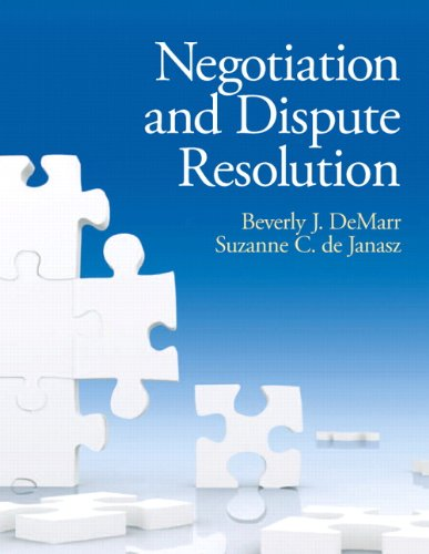 NEGOTIATION AND DISPUTE RESOLUTION