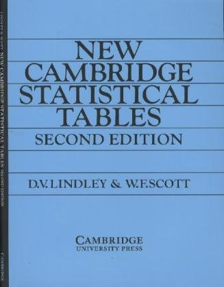NEW CAMBRIDGE STATISTICAL TABLES