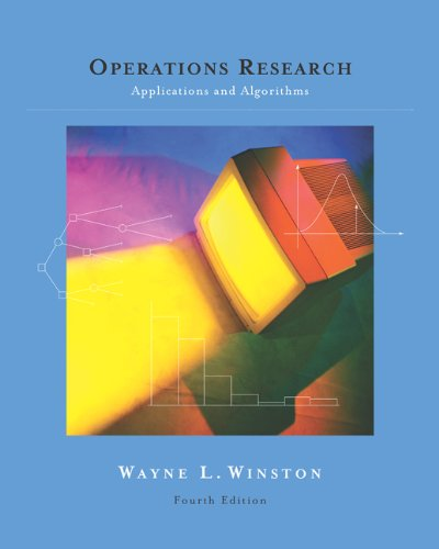 OPERATIONS RESEARCH APPLICATIONS & ALGORITHM