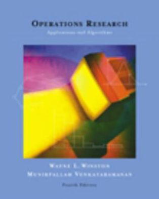 OPERATIONS RESEARCH APPLICATIONS AND ALGORITHMS