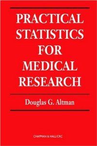 PRACTICAL STATISTICS FOR MEDICAL RESEARCH