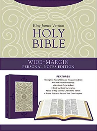 KJV HOLY BIBLE WIDE-MARGIN PERSONAL NOTES EDITION