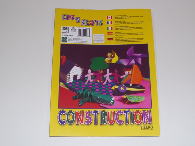 CONSTRUCTION PAPER PAD 36PG