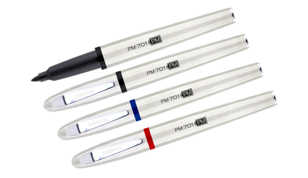 ZEBRA PM-701 STAINLESS STEEL PERMANENT MARKER