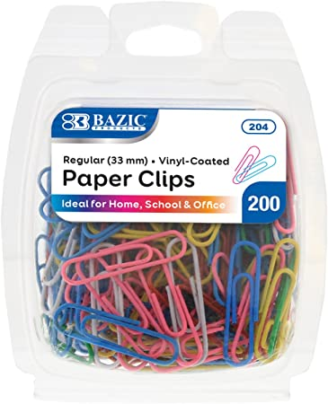 COLOURED - REGULAR PAPER CLIPS (100PK) 2004