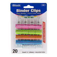 SMALL COLOURED FOLD BACK CLIPS
