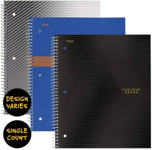 FIVE STAR STYLE / SPORT / GRAPHICS ONE SUBJECT NOTEBOOK