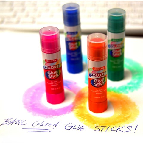 BAZIC COLOURED 8GM GLUE STICK