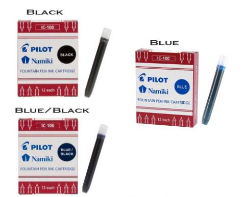 PILOT IC-100 FOUNTAIN PEN INK CARTRIDGE
