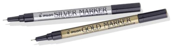 PILOT GOLD / SILVER MARKERS X/FINE AND MED