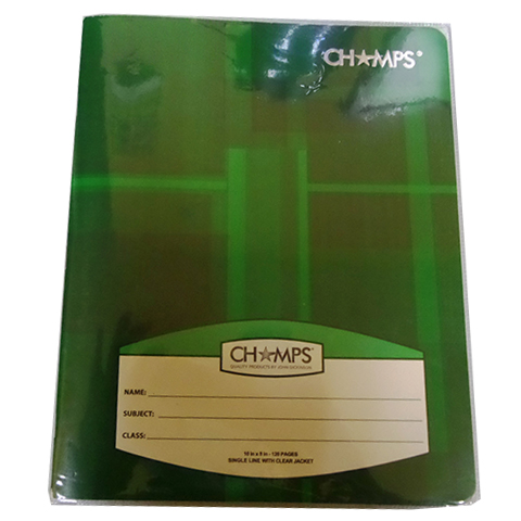 WINNER PLASTIC COVERED COMPOSITION BOOK (CHAMPS)