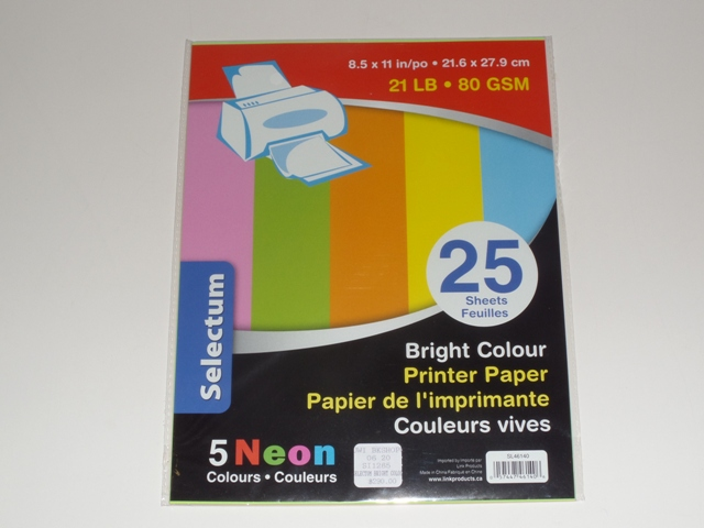 SELECTUM BRIGHT COLOUR PRINTER PAPER (25)