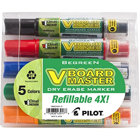 PILOT 5PK BE GREEN WHITEBOARD MARKER