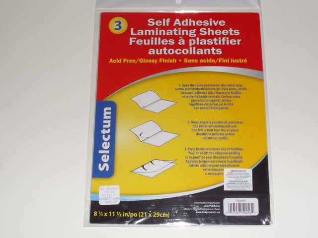 SELF-ADHESIVE LAMINATING SHEETS L/S