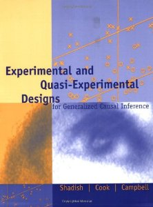 EXPERIMENTAL AND QUASI-EXPERIMENTAL  DESIGNS FOR GENERALIZED
