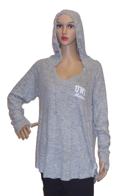 UWI LADIES CUDDLE V-NECK HOODIE