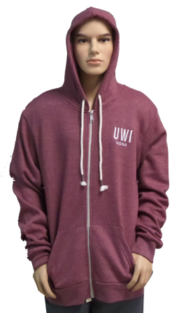 UWI LANDWAY UNISEX FULL ZIP HOODED SWEATSHIRT