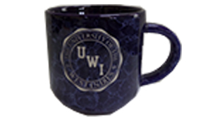 UWI MARBLED NATURAL MUG WITH SEAL DESIGN