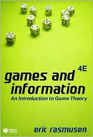 GAMES & INFORMATION: AN INTRO. TO GAME THEORY